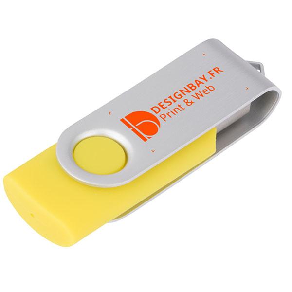 ht86 Clé USB basique rotative 2 Go jaune