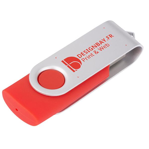 ht86 Clé USB basique rotative 2 Go rouge