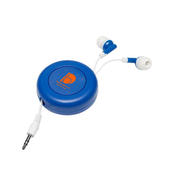 ht87 Écouteurs rétractables Reely bleu