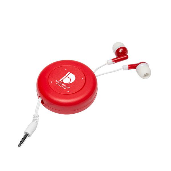 ht87 Écouteurs rétractables Reely rouge
