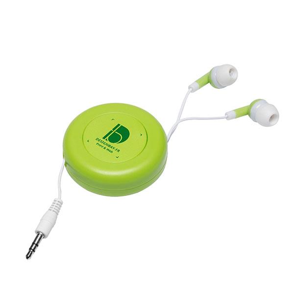 ht87 Écouteurs rétractables Reely vert