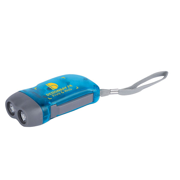 ht91 Lampe de poche dynamo Virgo bleu