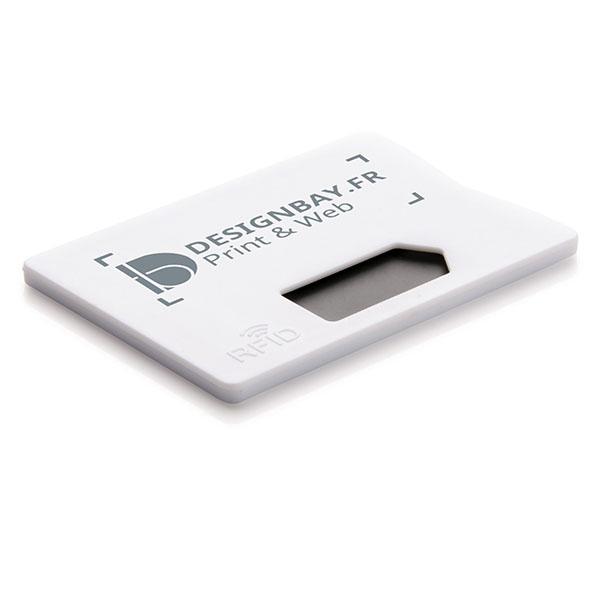 ht93 Porte-carte anti RFID blanc