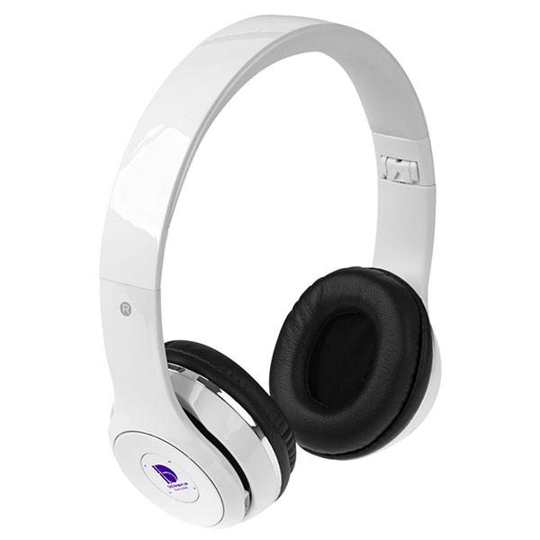 ht96 Casque pliable Bluetooth Cadence avec étui blanc