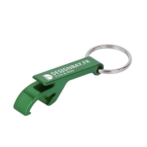 ma135 Porte-clés ouvre-boîte ouvre-bouteille vert