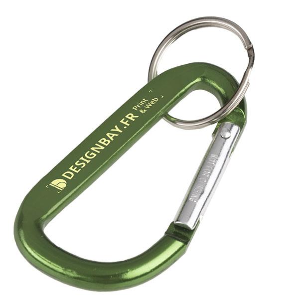 ma137 Porte-clés à mousqueton vert