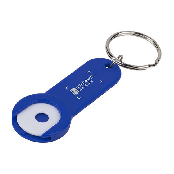 ma138 Porte-clés avec jeton Shoppy bleu