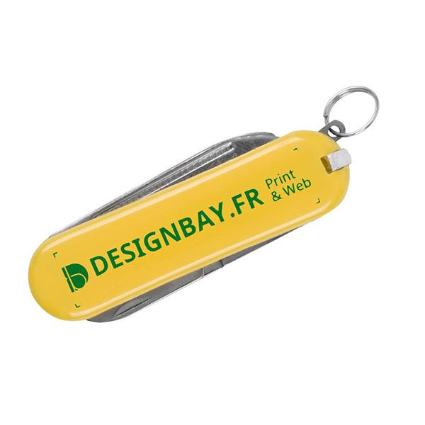 ma140 Couteau de poche à 5 fonctions Oscar jaune