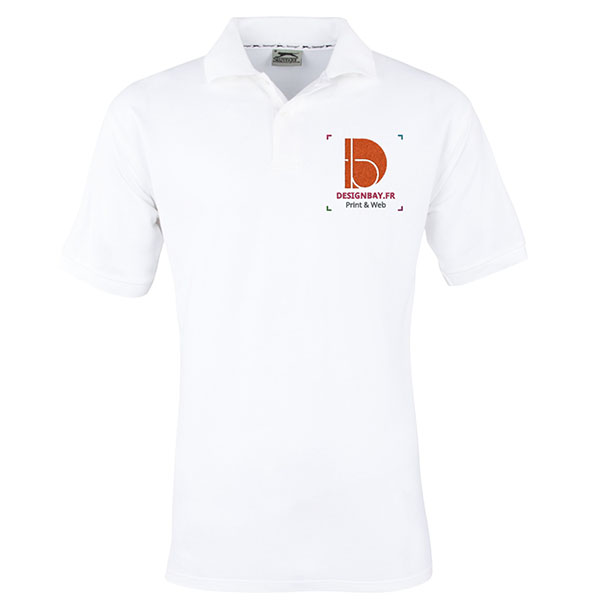 po13 Polo à manches courtes pour homme Forehand Blanc