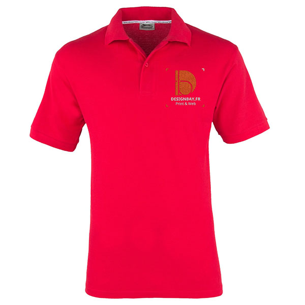po13 Polo à manches courtes pour homme Forehand Rouge