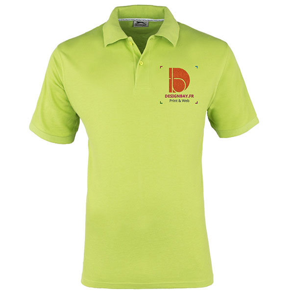 po13 Polo à manches courtes pour homme Forehand Vert pomme