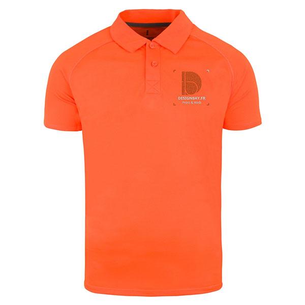 po14 Polo homme Cool Fit Ottawa Orange