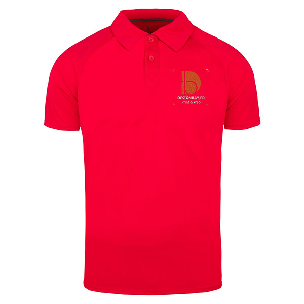 po14 Polo homme Cool Fit Ottawa Rouge