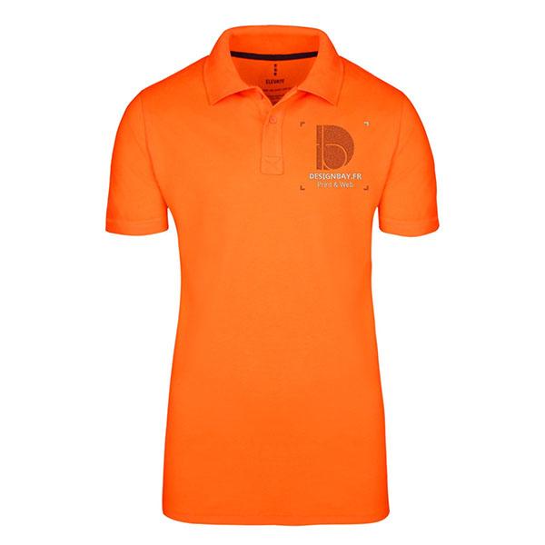 po20 Polo homme manches courtes Seller Orange