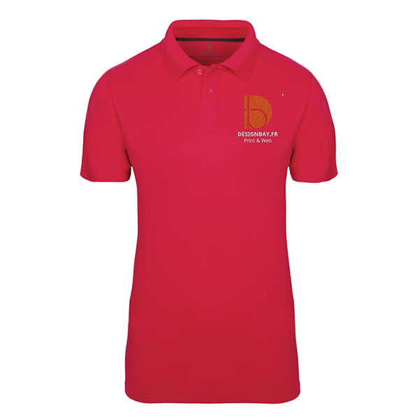 po20 Polo homme manches courtes Seller Rouge