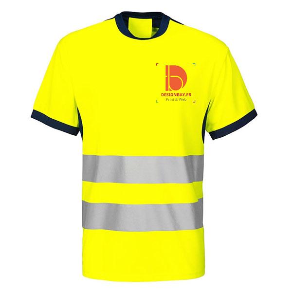 se35 T-shirt Projob classe 2 conforme bleu marine