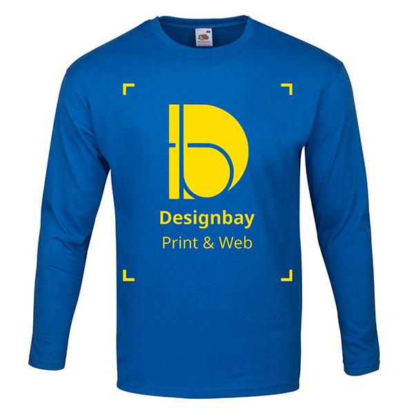 T-shirt homme manches longues bleu