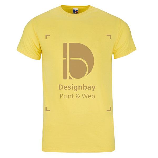 T-shirt premium manches courtes unicolore jaune