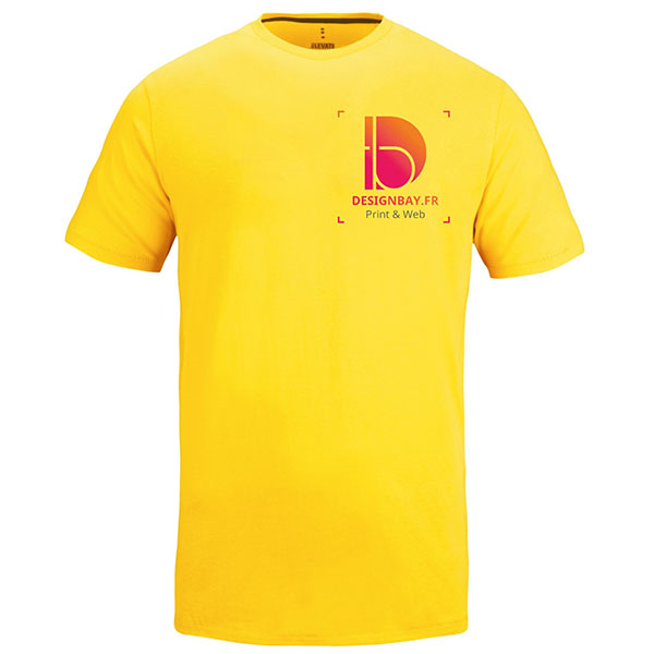 T-shirt homme manches courtes Nanaimo jaune
