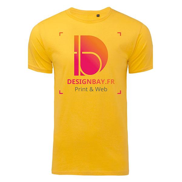 T-shirt homme coton biologique jaune