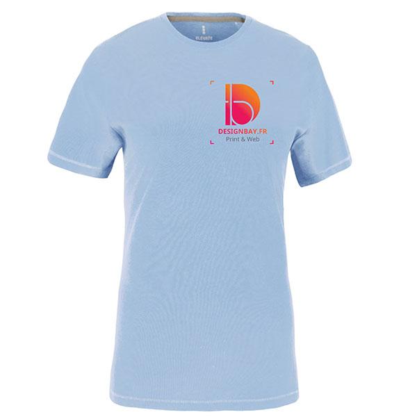 T-shirt femme manches courtes Nanaimo bleu clair