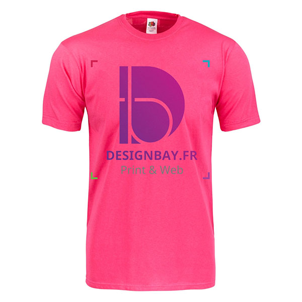 T-shirt Original Full-Cut fuschia