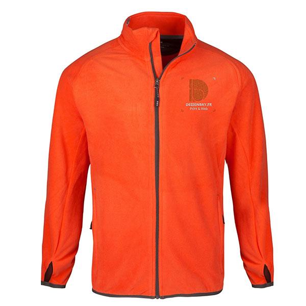 ve28 Veste micro-polaire homme Brossard orange