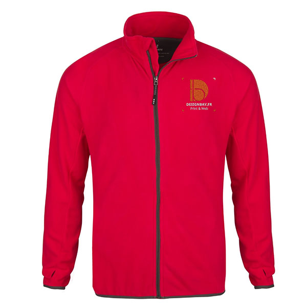 ve28 Veste micro-polaire homme Brossard rouge