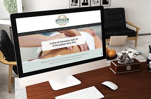 Ecran du nouveau site web Activ'AT