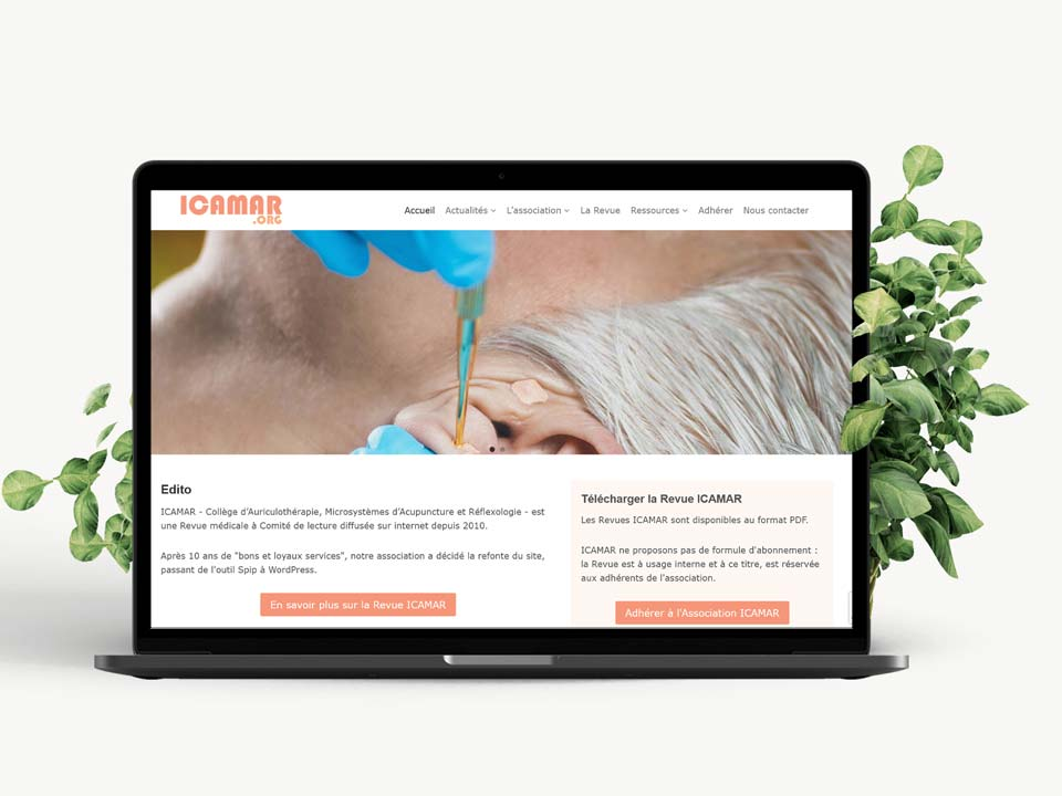 Icamar – Refonte du site web